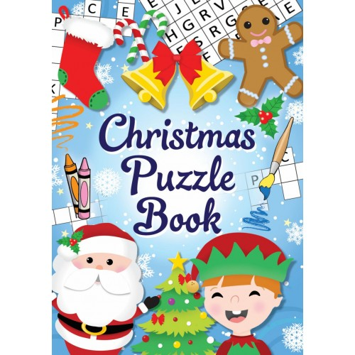 Henbrandt 12 Mini Christmas Puzzle Activity Books A6 - Girl or Boys Party Bag Fillers by Christmas Book