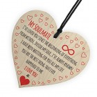 My Soulmate I Love You Wooden Hanging Heart Plaque Cute Valentines Day Gift