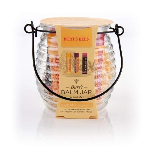 Burt's Bees® Balm Jar Natural Gift Set: 2 x Lip Balm 4.25g, Tinted Lip Balm 4.25g