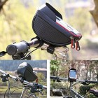 Bike Handlebar Bag, Bicycle Phone Mount, Waterproof Cycling Frame Top Tube Pouch Pannier Bike Phone Holder Stand for iPhone XS MAX XR X 8 7 6 6S Plus Samsung S9 LG Sony Smartphone up to 6 Inch