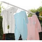 ilauke 36 Pack White Plastic Nursery Hangers Nonslip Baby Coat Hangers Space Saving Tubular Hangers for Kids Children Clothes
