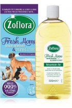 Zoflora Fresh Home Multi-purpose Concentrated Antibacterial Disinfectant, Eliminate Pet Odours 6 x 500ml Bottles - Mountain Air Fragrance