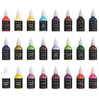Castle Art Supplies 3D Fabric Paint Set - 24 Premium Vibrant Puffy Colors Perfect for Clothing, Canvas, Glass and Wood - 29ml per Bottle, Non Toxic, Safe for Children