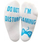"""Do Not Disturb Im Gaming"" Funny Socks - Great Novelty Gift For Gamers Who Have Everything! (Ankle Lounge Socks)"