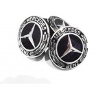Mercedes Black Alloy Wheel Centre Caps 75 mm A B C E S G CLASS CLA CLS SLK ML AMG