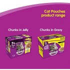 Whiskas 7+ Senior Wet Cat Food Pouches with Chicken, Salmon, Beef and Tuna, Selection in Jelly, 100 g (Pack of 120)