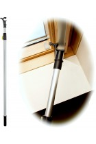 WinHux® Telescopic Window Pole Rod Opener Designed to Control VELUX® Skylight Roof Windows AND Blinds 2 Metre SILVER