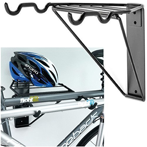 Home Wall Mounted Folding 2 Bike Bicycle Cycle Storage Mount Rack Double Parking