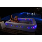 Giant Rectangular Lighted Swimming Paddling Pool LED LIGHT Inflatables Size 79 inch X 59 X 20 With Electric Air Pump 240v