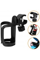 Bike Bottle Holder, Black Bicycle Cup Holder 360 Degrees Rotation Cycling Water Bottle Cages; fit Bicycles, Mountain Bikes, Prams and Wheelchair