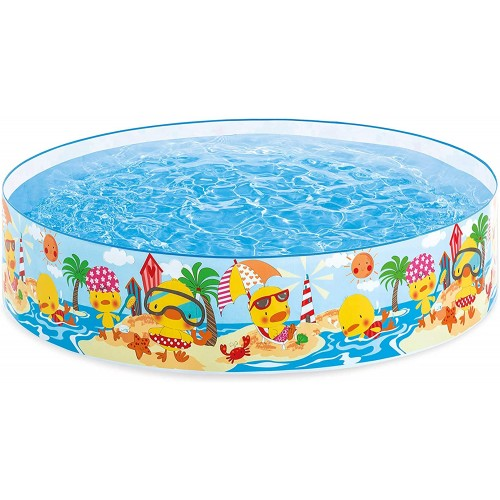Intex 4 ft Duckling Snapset Pool Multi-Colour Childrens Paddling Pool