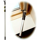WinHux Telescopic Window Pole Rod Opener Designed to Control VELUX® Skylight Roof Windows AND Blinds 3 Metre SILVER
