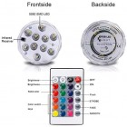 Underwater LED Lights Remote 16 Different Colours Spa Pool Hot Tub Home Decor X 2
