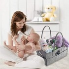 Mrs Hinch Grey Baby Storage Organizer Bag Caddy Home Cleaning Compartments Nappy
