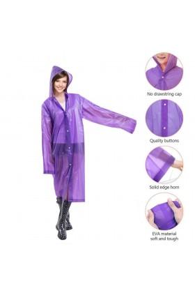 Adult Unisex Poncho Raincoat Reusable Waterproof
