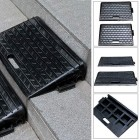 Heavy Duty Rubber Kerb Door Ramps Wheelchair Mobility Scooter Access Ramp 2 Pack