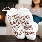 """If You Can Read This Bring Me Some Tea! "" - Funny Socks Cupcake Gift Packaging - Thermal Fuzzy Warm Cotton Perfect Gift For Wife Women Hostess Housewarming Novelty Romantic Birthday Present Tea Lover"