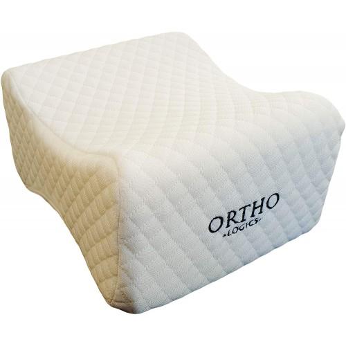 ORTHOLOGICS Knee Pillow - Memory Foam Leg Pillow Ideal for Back Knee Pain Side Sleepers Hip Pregnancy Spine Pillow OL14
