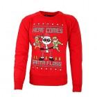 Kids Christmas Jumper Printed Santa Floss Unisex Fortnite