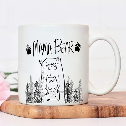 Mum mug Mama Bear Mothers Day Cup presents from daughter gifts for mums birthday Christmas mother or sibling gift