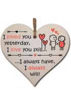 The Plum Penguin Handmade Wooden Hanging Heart Plaque Valentines Gift for someone special boyfriend girlfriend husband wife romantic keepsake