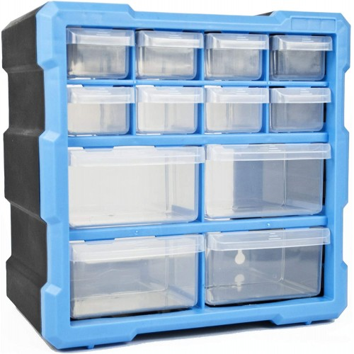 DIY Tool Bits Storage Organiser Unit Workshop Screws and Small Parts Cabinet or Office Stationary Craft Box 3 Sizes