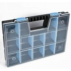 DIY Small Parts Storage Organiser Carry Case Compartment Tool Box for Screws Drill Bits Craft Sewing Large