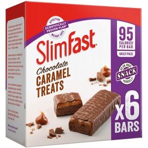 SlimFast Chocolate Caramel Snack Bar Multipack - Box of 30, Bars