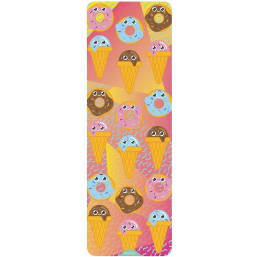 Myga Sweet Tooth Childrens Yoga Mat - Printed Kids Yoga Mat - Childs Exercise Mat for Pilates, Non Slip Multi Purpose Fitness Mat - Core Workout for Home, Gym, Studio