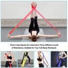 OMERIL Resistance Bands Set, [Set of 3] Skin-Friendly Exercise Bands with 3 Resistance Levels,Workout Resistance Bands Set for Women Men,Ideal for Strength Training,Yoga,Pilates,Fitness