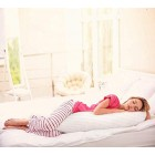 Body Pillow 4ft 6 Long Side Sleeper Bolster Pillow For Pregnancy And Maternity Support Cotton Blend Outer Shell With Soft Polyester Filling 1 Double 4ft 6 Inch