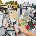 Bike Phone Holder, 360° Rotatable Universal Adjustable Motorcycle Phone Mount Clamp for iPhone 11 Pro Max/XS Max/XR/X/8/7, Samsung Galaxy S20/S10e/S9/S8 Plus and Most 3.5 inch-6.5 inch Smart Phones
