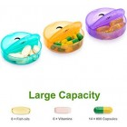 SUKUOS Pill Box 7 Day AM PM (Twice a Day) Weekly Pill Box Case with Moisture-Proof Design for Purse and Pockets (Rainbow)