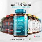 Premium Hydrolysed Marine Collagen Type 1 3 1000mg Per Serving 90 Capsules Enha