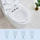 Sitz Bath for Toilet - Portable Sitz Bath Basin for Hemorrhoids Treatment, Postpartum Care, Pregnant Women, Perineal, Episiotomy Soak Relief, and Elderly - Fits Standard Toilets and Commode Chair