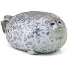 Blivener Chubby Blob Seal Pillow Stuffed Cotton Plush Animal Toy Cute Ocean Pillow Pets Grey