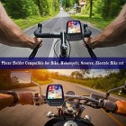 Waterproof Motorcycle Phone Mount with Rain Cover Motorbike Phone holder with Sensitive Touchscreen Bicycle Handlebar Phone Holder for iPhone 11/X/XR/XS/7/8/Galaxy S10/S8/S9 up to 6.8 Inch
