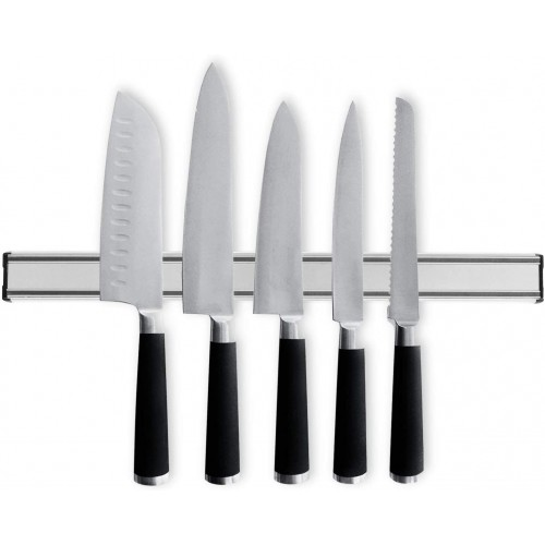 Magnetic Kitchen Knife Holder 19 Inch Stainless Steel Knives Hanging Rack Bar