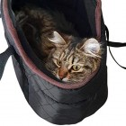 proudpet Quilted Pet Carrier Small Dog Black Handbag Cat Carry Bag
