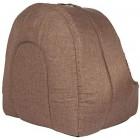 proudpet Cat Igloo Bed Pet Kitten Small Dog Cosy Fleece Cave Hideout Brown or Grey