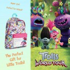 Trolls School Bags for Girls Boys, Girls Backpack with Holographic Design Poppy Troll