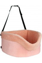 proudpet Pet Car Booster Seat Fluffy Pink Dog Travel Carrier
