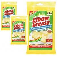 Elbow Grease Antibacterial Surface Scrub Wipes Pk24