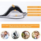 Reusable Fold-Flat Dust Face Mask with Filters Personal Protective Adjustable for Running Cycling, Outdoor Activities (Black, 1 Mask + 3 Activated Carbon Filters Included)