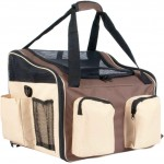 proudpet Brown Pet Carrier Dog Cat Car Travel Bag with Shoulder Strap