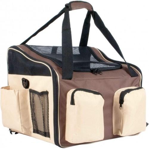 proudpet Brown Pet Carrier Dog Cat Car Travel Bag with Shoulder Strap