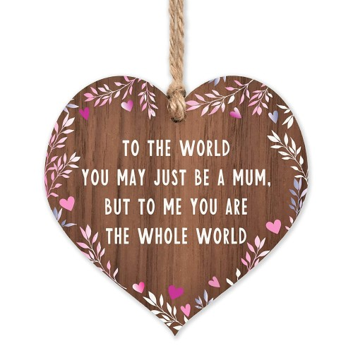 Gift for mum Worlds Best Mum Wooden Plaque Mothers Day gifts for Mums