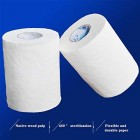 Toilet Roll Paper Hotel Roll Toilet Paper Hotel Roll Paper Toilet Paper Core Small Roll Paper, Four Thick Layers, White, 105 Rolls / 70 Grams