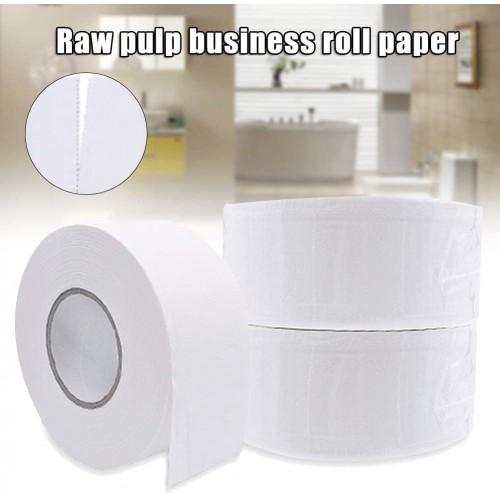 Safe Household Virgin Pulp Sanitary Toilet Paper, 1 Rolls Toilet Paper 4 Layer Tissue Soft Skin-Friendly Safe for Home Bathroom, White