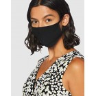 FM London Accessories Reusable Fabric Face Mask, Black, One Size (pack of 10)